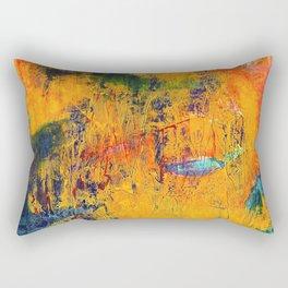Imaginaere Landschaft II abstrakte Malerei Rectangular Pillow