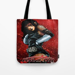RAZOR RED by Everette Hartsoe Tote Bag
