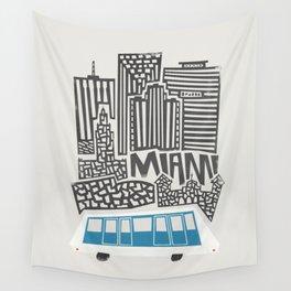 Miami Cityscape Wall Tapestry
