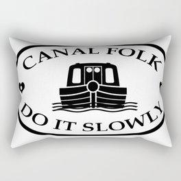Canal folk do it slowly bywhacky Rectangular Pillow