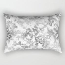 scrubbed silver marble Rectangular Pillow