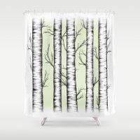 wonderland Shower Curtains featuring Wonderland by Barlena