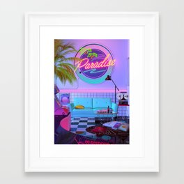 Paradise Wave Framed Art Print