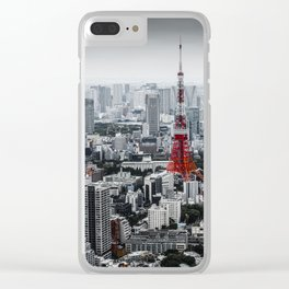 Cinereous City Clear iPhone Case