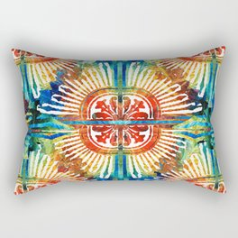 Pattern Art - Color Fusion Design 2 By Sharon Cummings Rectangular Pillow