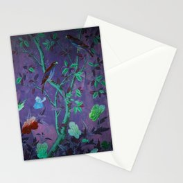 Aubergine & Teal Chinoiserie Stationery Cards