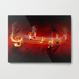 Hot Music Notes Metal Print