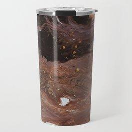 Copper abstract liquidity. Travel Mug