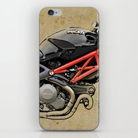 ducati iPhone & iPod Skins featuring Ducati Monster 796 by Larsson Stevensem