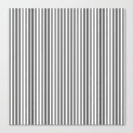 Classic Small Black Tarp Black French Mattress Ticking Double Stripes Canvas Print