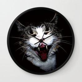Vampire Kitty Wall Clock