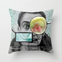 dali Throw Pillows featuring DALI by Marian - Claudiu Bortan