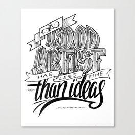 Quote - MK - Typedesign Canvas Print