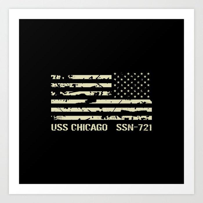 USS Chicago Kunstdrucke