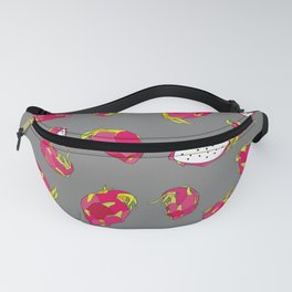 Dragon Fruit on Grey Fanny Pack