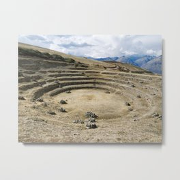 The Incan agricultural terraces at Moray, Maras, Peru Metal Print