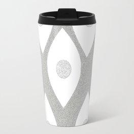 Eye Pattern White Travel Mug