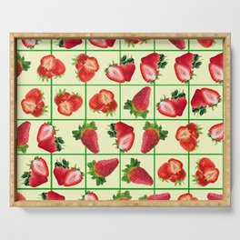 Strawberries pattern Serving Tray