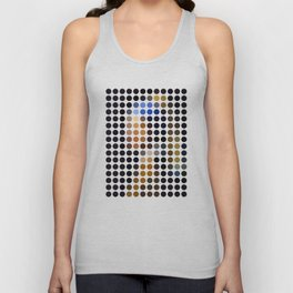 Girl with a Pearl Earring remixed (2009) Unisex Tank Top