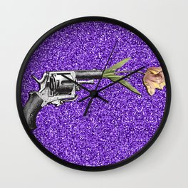 FORAL SHOT Wall Clock