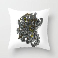 Jailed fern Throw Pillow