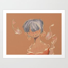 Koi Woman Art Print