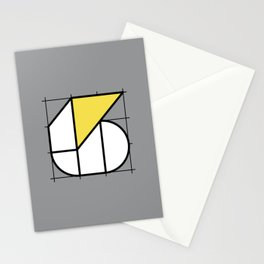 6 // Perfectionist Numbers (Pantone Ultimate Gray + Illuminating) Stationery Cards