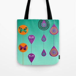 Butterflies and Peacocks Tote Bag