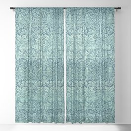 "William Morris ""Brer rabbit"" 5. Sheer Curtain"