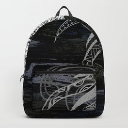 Abstract Tribal Pineapple Collage Backpack