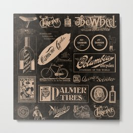 'Re. Cycling' - Vintage Logo Collage Metal Print