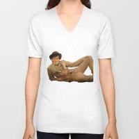 caleb troy V-neck T-shirts featuring Troy by Eddie Frietas