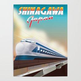 Shinagawa Japan travel poster Poster