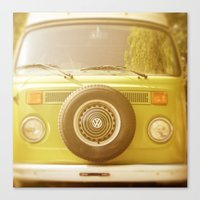volkswagon Canvas Prints featuring Retro VW by ShadeTree Photography