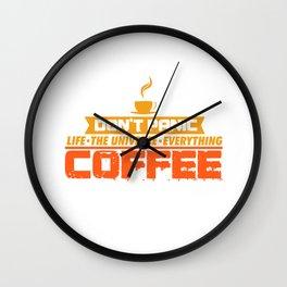 Coffee Caffeine No Panic Joke Funny Gift Wall Clock