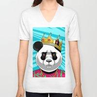 big poppa V-neck T-shirts featuring BIG POPPA by Liomal