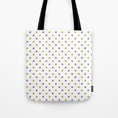 Fun Dots purple green Tote Bag