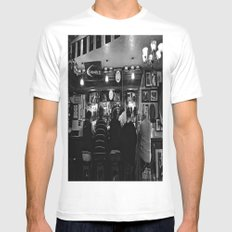 At the Pub MEDIUM Mens Fitted Tee White