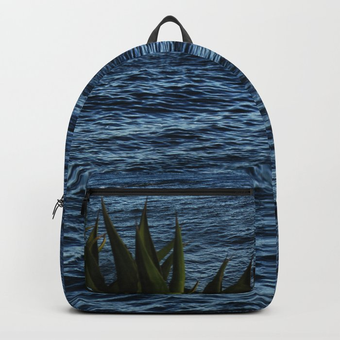 Seascape with cactus Backpack