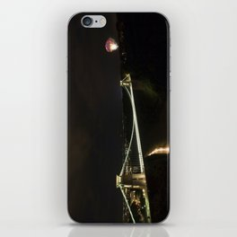Clifton Suspension Bridge at Night iPhone Skin