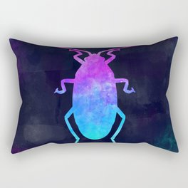 COCKROACH IN SPACE // Animal Graphic Art // Watercolor Canvas Painting // Modern Minimal Cute Rectangular Pillow