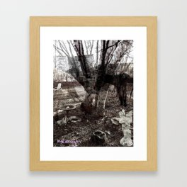 Ghosts in the Yard Framed Art Print