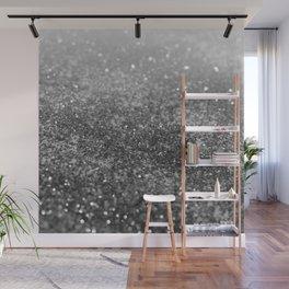 Silver Gray Black Glitter #2 (Faux Glitter - Photography) #shiny #decor #art #society6 Wall Mural