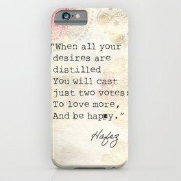 Persian poet Hafez  iPhone Case