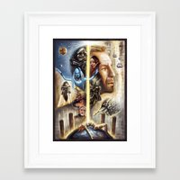 fifth element Framed Art Prints featuring The Fifth Element by muratturan
