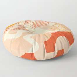 mid century modern abstract design II Floor Pillow