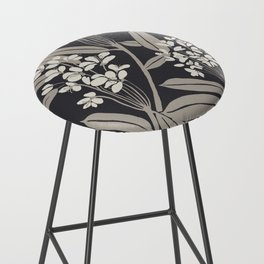Boho Botanica Black Bar Stool