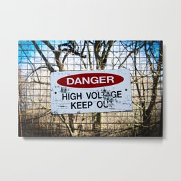 High Voltage Metal Print