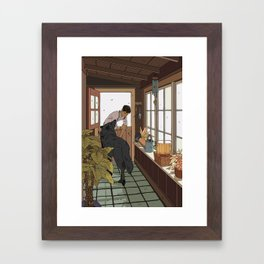 The Mudroom Wolf Framed Art Print