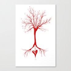 Bleed Love Canvas Print